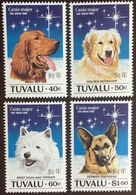 Tuvalu 1994 Year Of The Dog Dogs MNH - Dogs