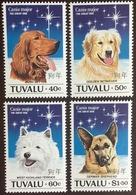 Tuvalu 1994 Year Of The Dog Dogs MNH - Hunde