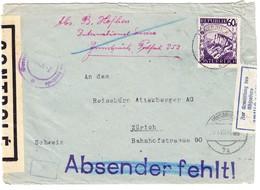 1946 Zensurpost; Mehrfach Zensurierter Brief Aus Innsbruck Nach Zürich; Stempel:zur Vermeidung Von Verzögerungen Durch.. - 1945-.... 2a Repubblica