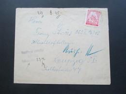 Böhmen Und Mähren 1942 An Die Schlachthofkollonie In Leipzig Stempel Empfänger Gestattet Eröffnung Leipzig Mit Vermerk - Briefe U. Dokumente