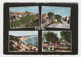 11 Fitou Vers Port La Nouvelle En 4 Vues Camping Place Du Centre Plage De La Franqui En 1964 Citroën DS VW KÄfer - Port La Nouvelle