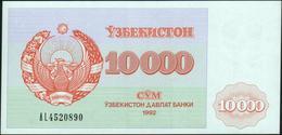 UZBEKISTAN - 10.000 Sum 1992 {O'zbekiston Davlat Banki} AU-UNC P.72 A - Uzbekistan