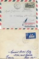 SAINT PIERRE ET MIQUELON - 2 BELLES ENVELOPPES ECRITES POUR CAMBRIGE ET PARIS EN 1948 ET 1951 - St.Pierre & Miquelon