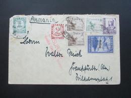 Spanien Bürgerkrieg Censura Militar Santa Cruz Teneriffa Flugposdtmarke Islas Canarias Schöne Frankatur! - 1931-50 Briefe U. Dokumente