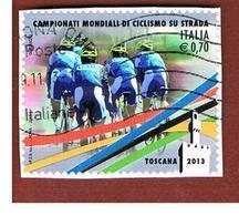 ITALIA REPUBBLICA  -   2013   -  MONDIALI DI CICLISMO                     -   USATO  ° - 6. 1946-.. Republic