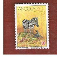 ANGOLA  -  SG 962     - 1991  RED CROSS: ANIMALS (ZEBRA) -  USED - Angola