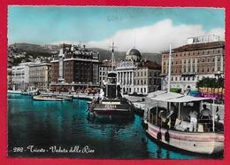 CARTOLINA VG ITALIA - TRIESTE - Veduta Delle Rive - 10 X 15 - 1959 AMB. TRIESTE VENEZIA - Trieste