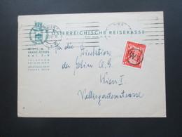 Österreich 1949 Landschaften Nr. 841 EF Der ÖRK Österreichische Reisekasse Ortsbrief Wien Mit Stempel W.1 - 1945-.... 2. Republik