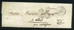 LETTRE  DE  AGEN  CAD  DU  6 FEVRIER  1852  POUR  ALBAS . - 1849-1876: Période Classique