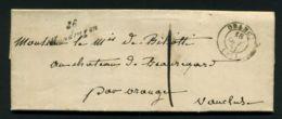 LETTRE  DE  MONDRAGON  CAD  DU  18  JUILLET  18??   POUR  ORANGE . - Marcophilie (Lettres)
