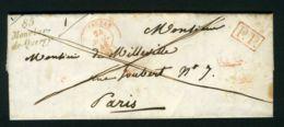 LETTRE  DE  MONTCLAR-DE-QUERCY  CAD  DU  21  JUILLET  1846 POUR  PARIS . - Storia Postale