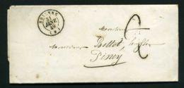 LETTRE  DE  BRIENNE  CAD  DU  31  JANVIER  1849  POUR  PINEY . - Marcophilie (Lettres)