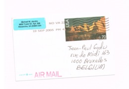 Entier Postal à 70 Cents.Expédié De Alexandria (VA) à Bruxelles. - Interi Postali
