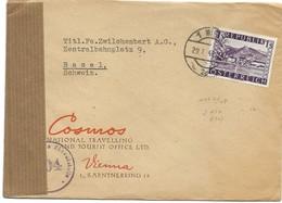 150 - 29 - Enveloppe Envoyée De Vienne  En Suisse 1948 - Censure - 1945-.... 2nd Republic