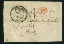 LETTRE  DE  BRIENNE  CAD  DU  2 DECEMBRE  1840  POUR  PINCY . - 1801-1848: Précurseurs XIX