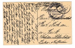 838/29 - Etappen - Carte-Vue OOSTENDE Feldpost 1917- Cachet De Franchise Kommando Der Minen Helbstelle Flandern - WW I
