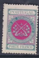 Portugal Timbres De Franchise N° 2 X Société Civile D' Arquebusiers Vert-bleu Et Rouge Trace Charnière Sinon TB - Franchise