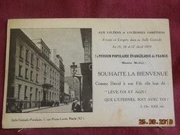 CPA - Paris - Congrès De La Mission Populaire évangélique De France - Avril 1919 - 1, Rue Pierre-Levée - Arrondissement: 11