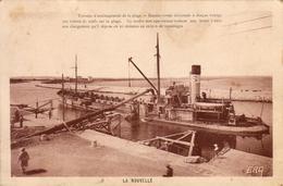 D11  LA NOUVELLE  Travaux D'Aménagement De La Plage  .........  Carte Peu Courante - Port La Nouvelle