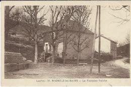 Lozere, Bagnols Les Bains : La Fontaine Fraiche - France
