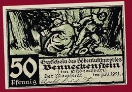 Allemagne 1 Notgeld  50 Pfenning  Stadt Benneckenstein  (RARE) Dans L 'état N °4620 - Verzamelingen