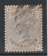 GB - 4 Pence - Yvert N° 64 - Planche 17 (1880-1883) - Used Stamps