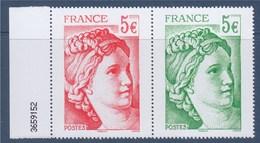 """= Issu Du Bloc """"40 Ans De La Sabine De Gandon"""" (Bloc De 12 Timbres) Rouge Et Vert Grand Format 5.00€ Neuf 5181 Et 5182 - 1977-81 Sabine Of Gandon"""