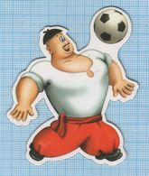 UKRAINE / Flexible Magnet / Football Cartoon Cossack . - Sports