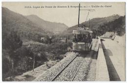 CPA 06 Alpes Maritimes Rare Ligne De Tram Tramway De Menton à Sospel Vallée De Carei Gorbio Castillon Castellar Peille - Menton