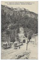 CPA 06 Alpes Maritimes Ligne De Tram Tramway De Menton à Sospel La Gare De Castillon Près De Gorbio Castellar Peille - Menton