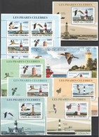 AA282 2008 UNION DES COMORES FAUNA BIRDS LES PHARES CELEBRES 1KB+1BL+6 LUX BL MNH - Andere