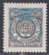 Portugal Timbres De Franchise N° 21 X Société De Géographie Noir Et Bleu  Trace Charnière Sinon TB - Franchise