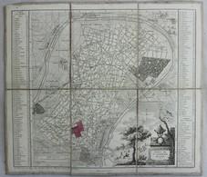 Carte Toilée De La Foret De St Germain En Laye - XIX Eme - Bur - Cartes Géographiques