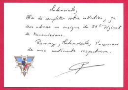 Carte De Visite - 51ème Régiment De Transmissions - - Militaria