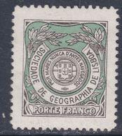 Portugal Timbres De Franchise N° 23 X Société De Géographie Noir Et Vert  Trace Charnière Sinon TB - Franchise