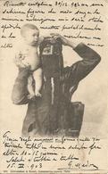 Cairo (Egitto) Femme Fellah Con Bambino In Braccio - Costumi