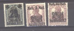 Sarre  :  Yv 50-52  * - 1920-35 Société Des Nations