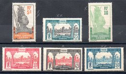 GABON - YT N° 82 à 87 - Neufs **/* - MNH/MH - Cote: 11,20 € - Gabon (1886-1936)