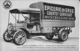 Montbéliard (Doubs) - CPA + Facture épicerie En Gros Courtot-Corvisart, Camion De Livraison.. TB état. - Montbéliard