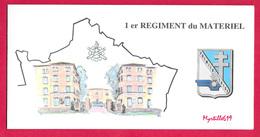 Carte De Voeux - 1er Régiment Du Matériel - - Militaria
