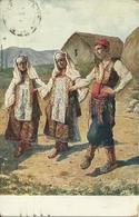 """Kosovo, Danza Nazionale """"Kolo"""", V. Meneghello - Dincic Illustratore - Danze"""