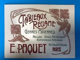 Arte Deco    E.Paquet Paris 1900 - Plaques En Carton