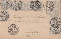 Affranchissement  10 Tp  1 Bande De 5 + 1 Bande De 4  +1 - 1900-29 Blanc