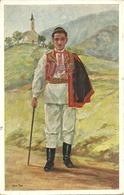 Croatian National Costumes, Sestine - Zagreb (Croazia) Nasta Rojc Illustratore - Costumi