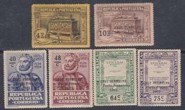 Portugal Timbres De Franchise N° 26 / 31 X La Série De 6 Valeurs Surchargées Porte Franco 1927  Trace Charnière Sinon TB - Franchise