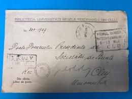 Reg.Cover Romania 1929 «Din Oficiu.Liber De Porto» - Zonder Classificatie