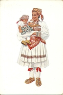 Costumi Nazionali Croati, Zagreb - Sestine (Croazia) Vladimir Kirin Illustratore - Costumi