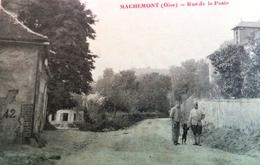 CPA 60 OISE MACHEMONT Animée RUE DE LA POSTE . 1918 .  EDITEUR MILVILLE - France