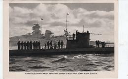 Propaganda Karte, Kapitänleutnant PRIEN Kehrt Mit Seinem Neuen U - BOOT Von Scapa Flow Zurück - Weltkrieg 1939-45