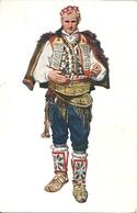 Costumi Nazionali Croati, Dalmazia, Knin - Vrlika (Tenin - Verlicca) (Croazia) Vladimir Kirin Illustratore - Costumi